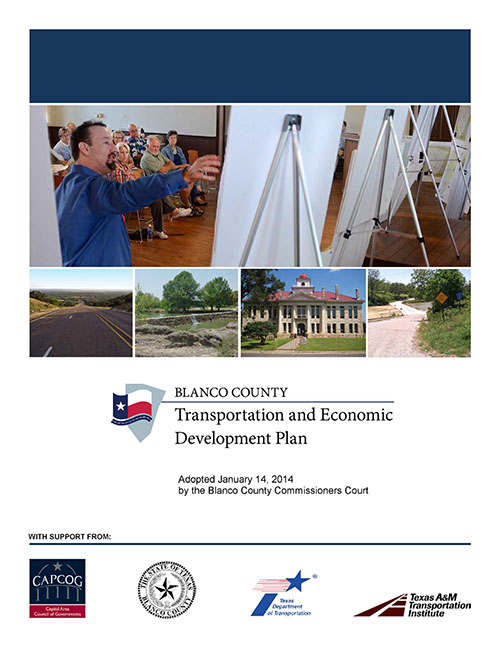 Click to the Blanco County Transportation and Economic Development Plan