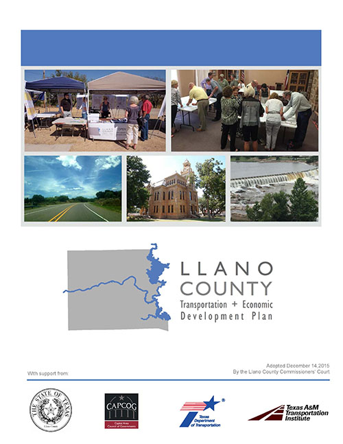 Click to read the Llano County Transportation and Economic Development Plan.